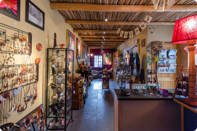 A view of the Sacred Treasures store.